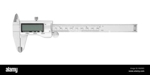small resolution of dgital electronic vernier caliper isolated on white background stock image