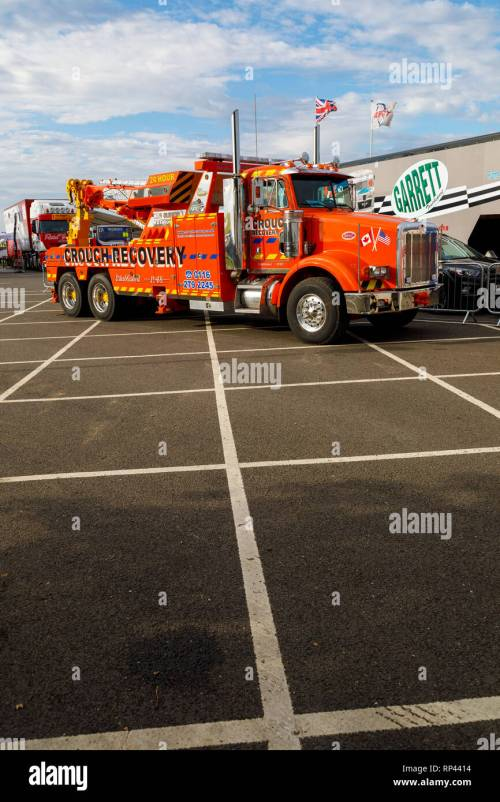 small resolution of crouch recovery peterbilt hgv breakdown truck on duty at the snetterton 2018 truck racing championship meeting norfolk uk