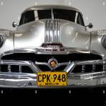 1951 Pontiac Chieftain Low Angle View Front End Grill Bumper And Headlights Stock Photo Alamy