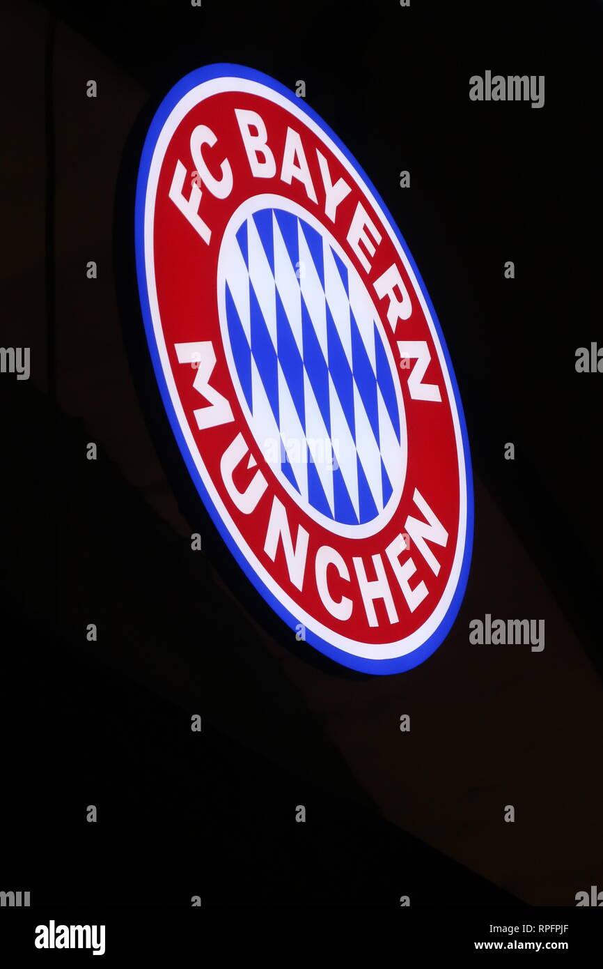 bayern munich logo stock