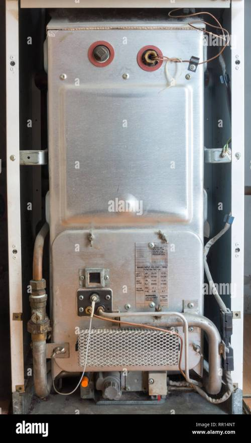 small resolution of old gas heater gas furnace for central heating with pipes and wires
