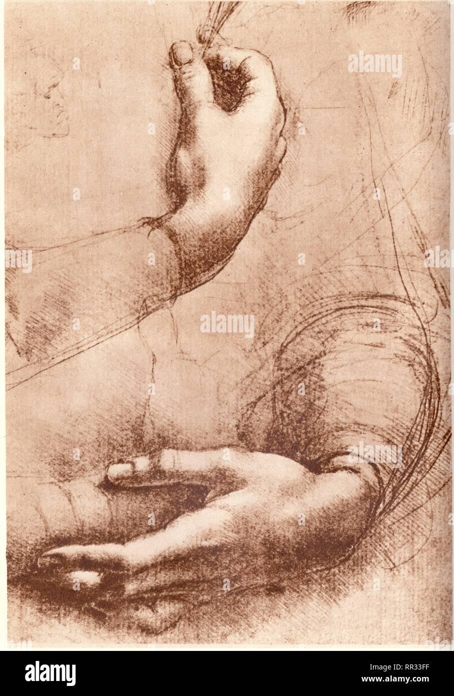 study of hands leonardo