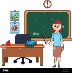 school teacher cartoon Stock Vector Image & Art Alamy