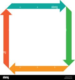 flat square with four arrows for infographic template for cycle diagram graph presentation and round chart business concept with 4 options parts  [ 1300 x 1390 Pixel ]