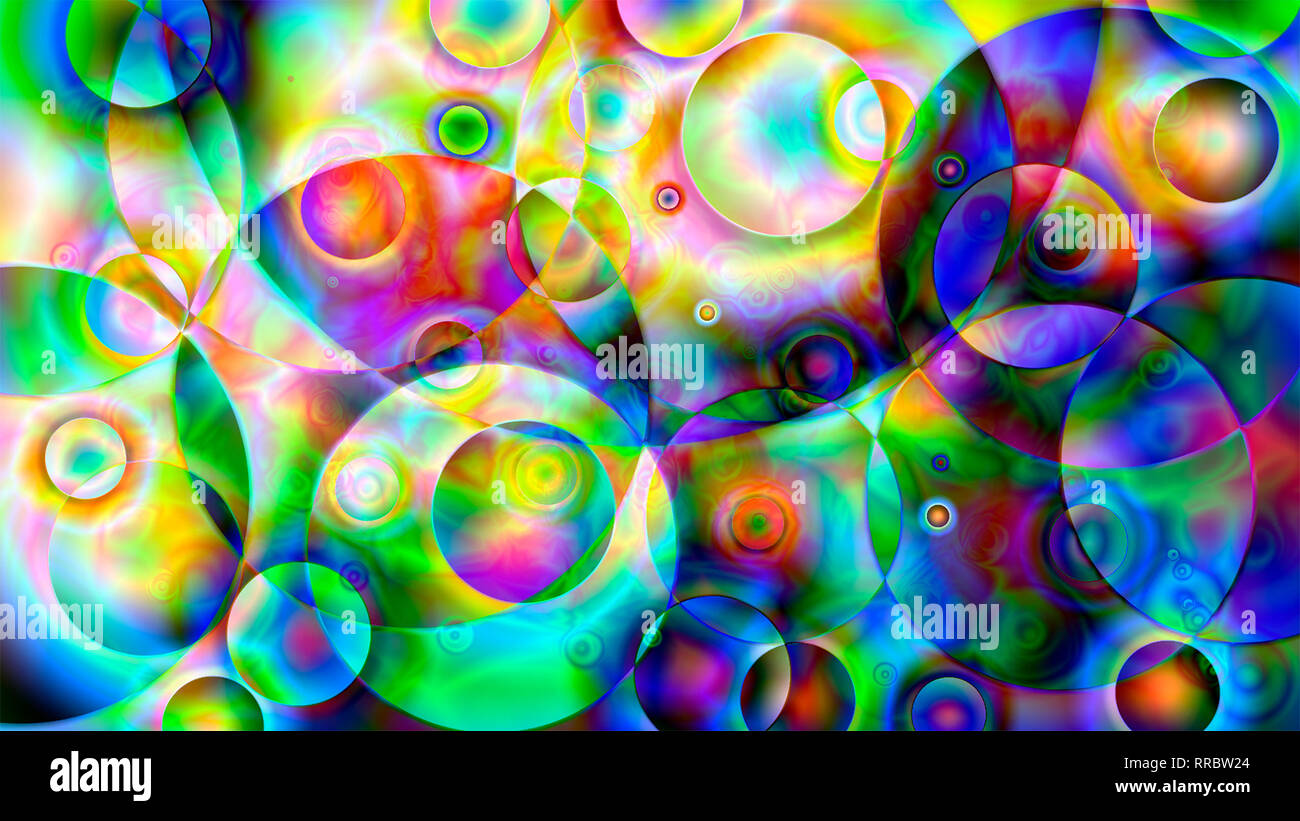 bright psychedelic background in