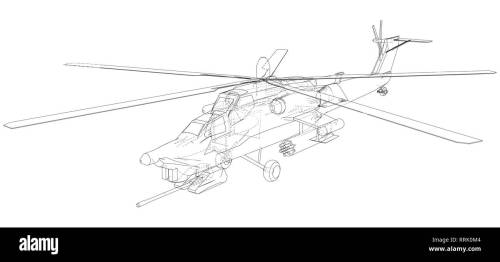 small resolution of silhouette of military helicopter created illustration of 3d vector wire frame concept