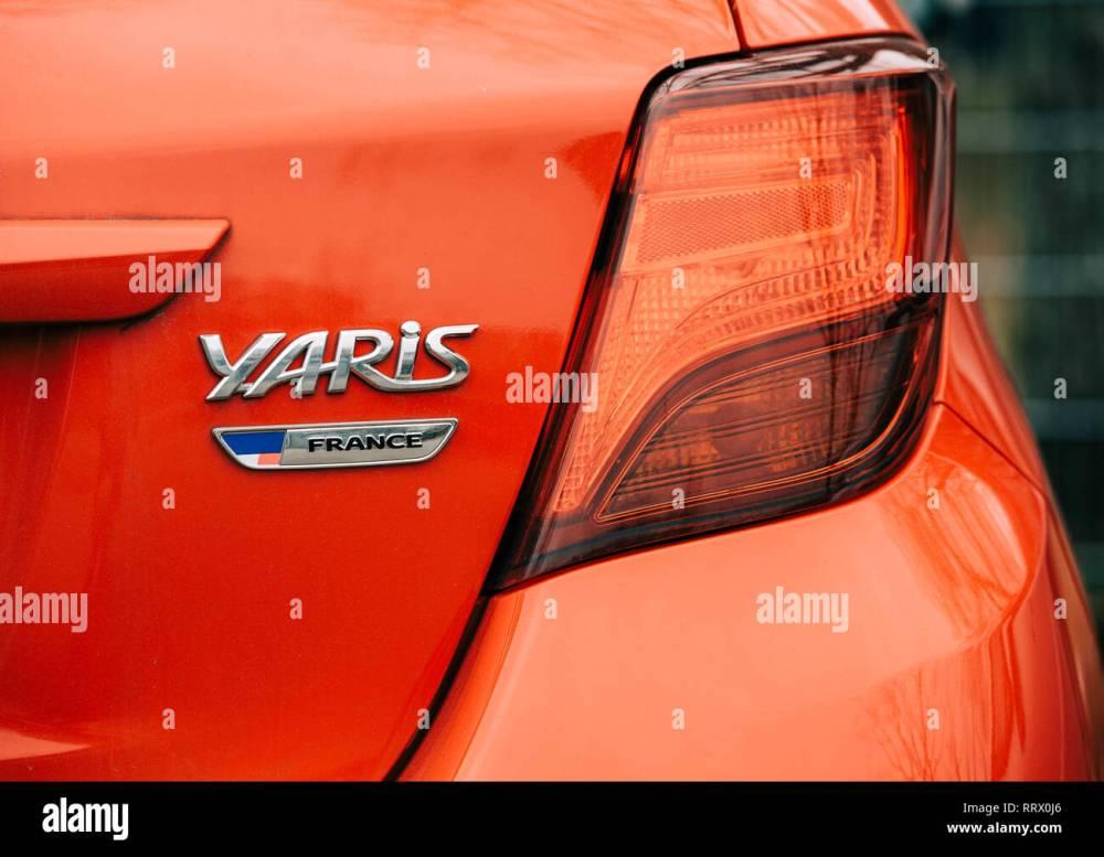 medium resolution of strasbourg france dec 14 2018 reav view of red toyota yaris car