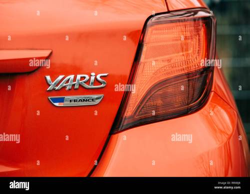 small resolution of strasbourg france dec 14 2018 reav view of red toyota yaris car