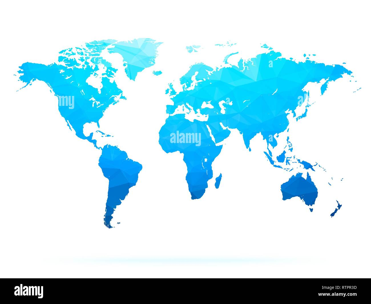 blue abstract polygonal world