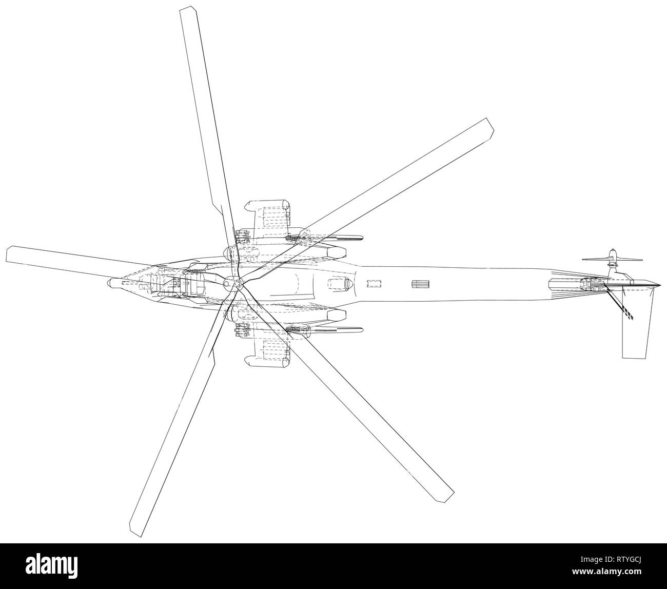 hight resolution of blueprint of helicopter vector wireframe concept blue purple created illustration of 3d