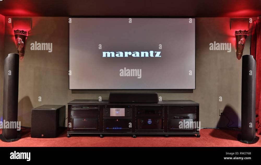 medium resolution of miami beach fl february 28 home theater featuring vutec silver star screen parasound amps golden ear speakers oppo player marantz pre amp