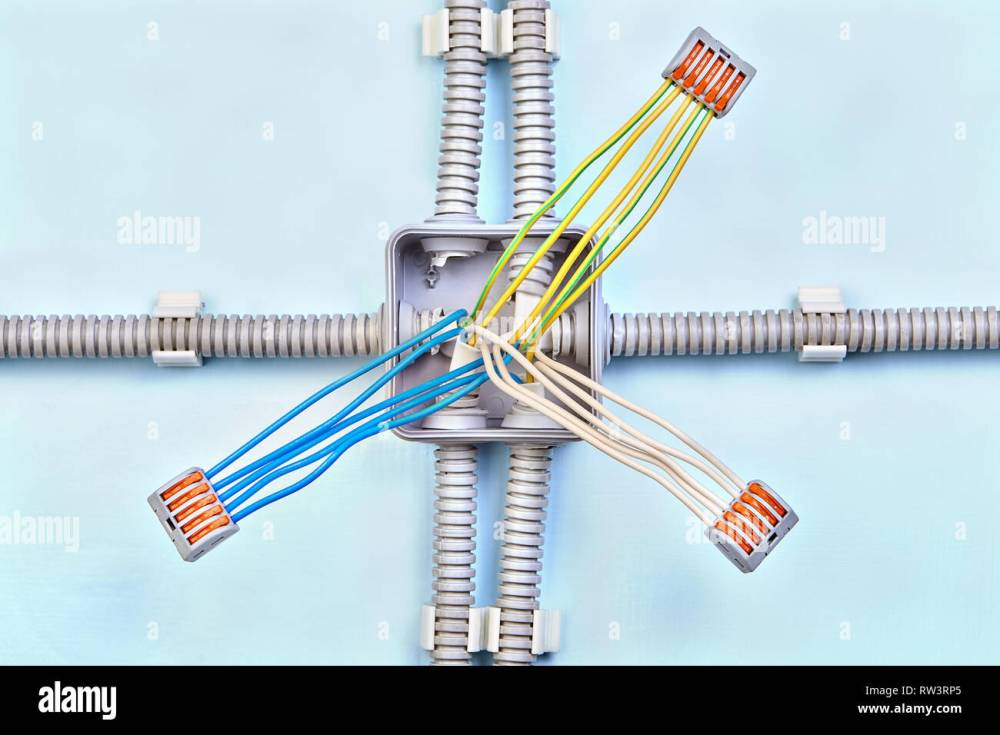 medium resolution of home junction box wiring with three groups of wires connected with push wire connector
