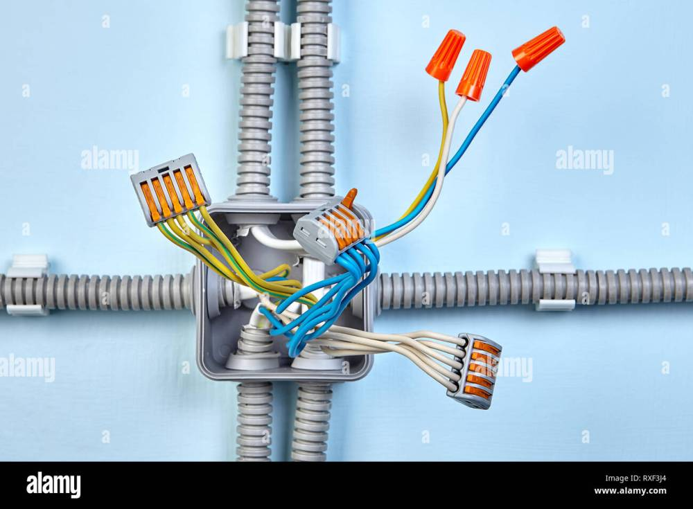 medium resolution of process of mounting electrical junction box with help of twist splice wire connectors and push wire connector