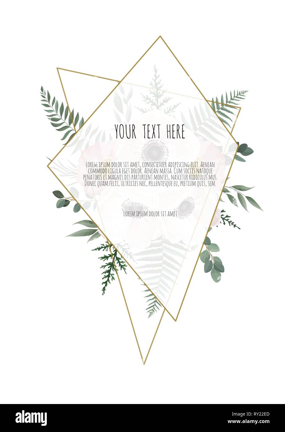 medium resolution of card with flower rose leaves wedding ornament concept floral poster invite