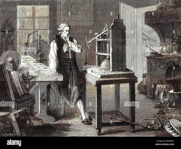 Steam Engine James Watt Stock &