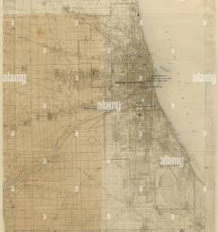 plan of chicago chicago illinois diagram showing city growth daniel hudson burnham american 1846 1912 edward herbert bennett american born england  [ 1021 x 1390 Pixel ]