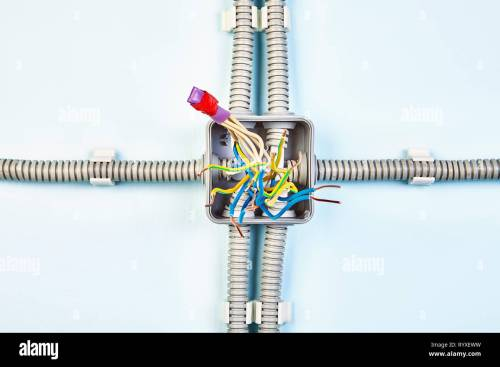 small resolution of diagram of junction box with copper wiring spliced with help of heat shrink tubing and insulating tape