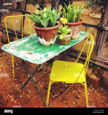 Shabby Chic Garden Furniture Stock Royalty Free