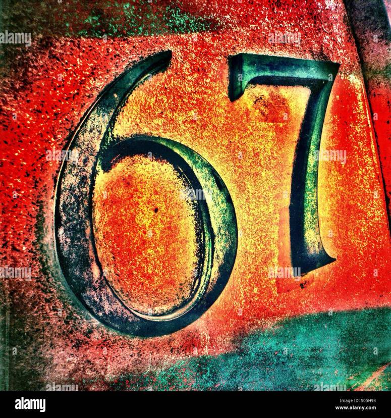 Number 67 High Resolution Stock Photography and Images - Alamy