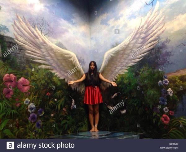 3d Angel Art In Paradise Pattaya Stock Royalty Free 309918943 - Alamy