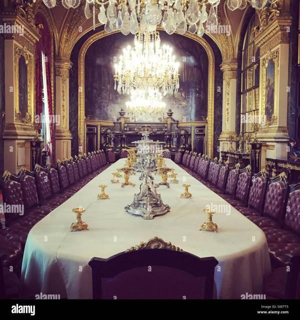 France Paris Louvre Museum Room Stock &