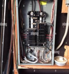 circuit breaker box interior stock image [ 974 x 1390 Pixel ]