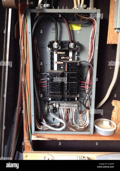 small resolution of circuit breaker box interior stock image