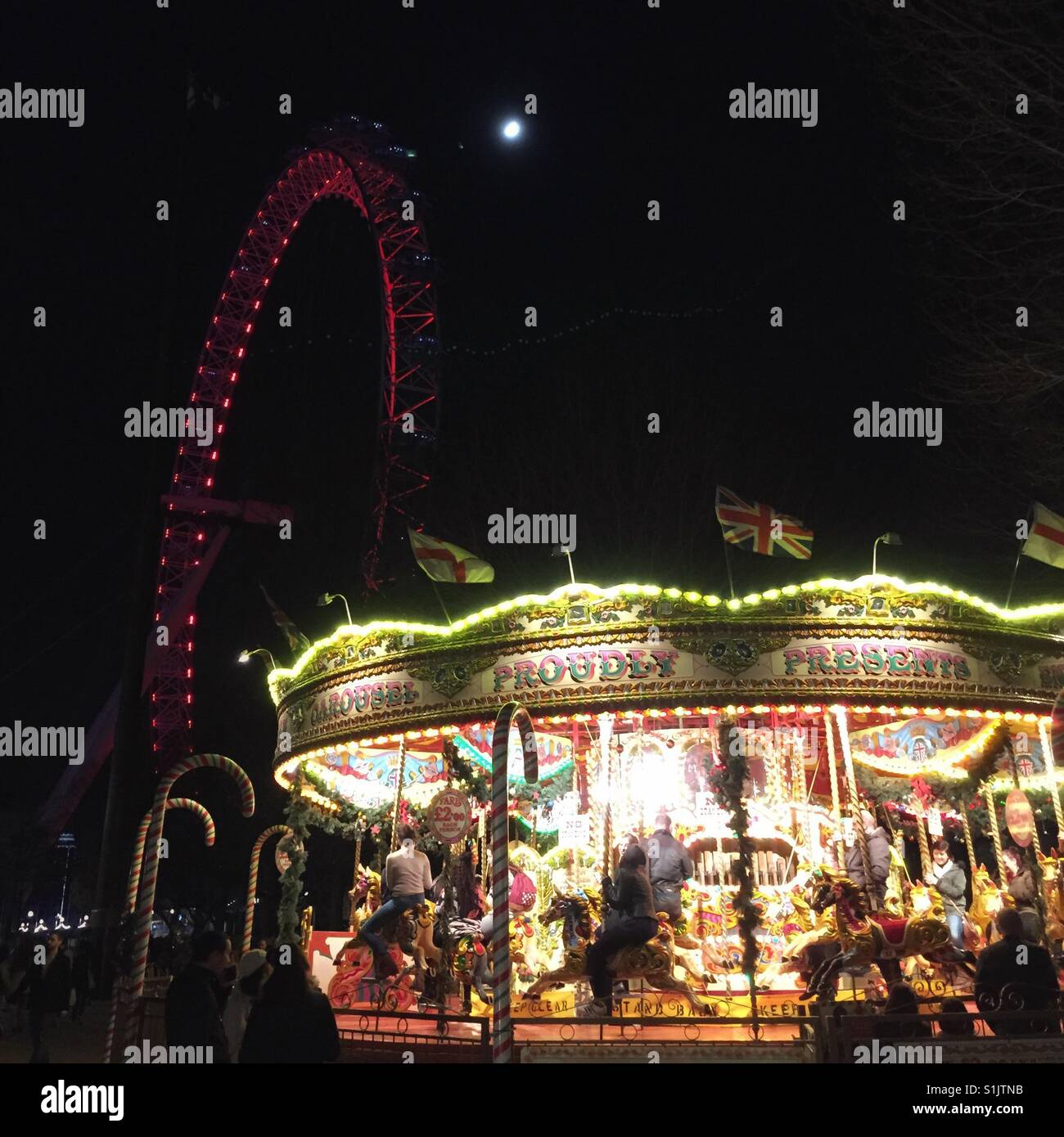 revolving chair thames dining chairs overstock carousel on the south bank stock photos and
