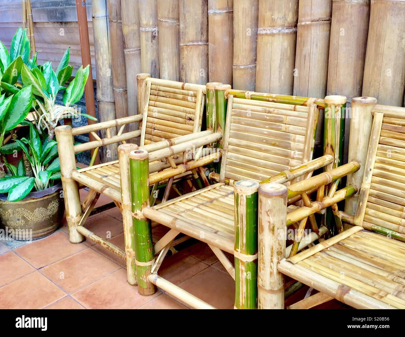 Bamboo Chair Stock Photos  Bamboo Chair Stock Images  Alamy
