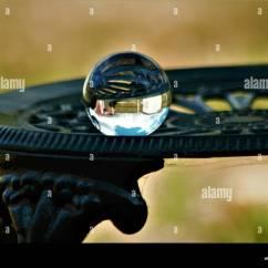 Chair Rail Upside Down Swivel Mechanism Parts Glass Ball Image On Iron Stock Photo 311194352