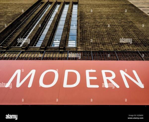 Tate Modern Sign London Stock &