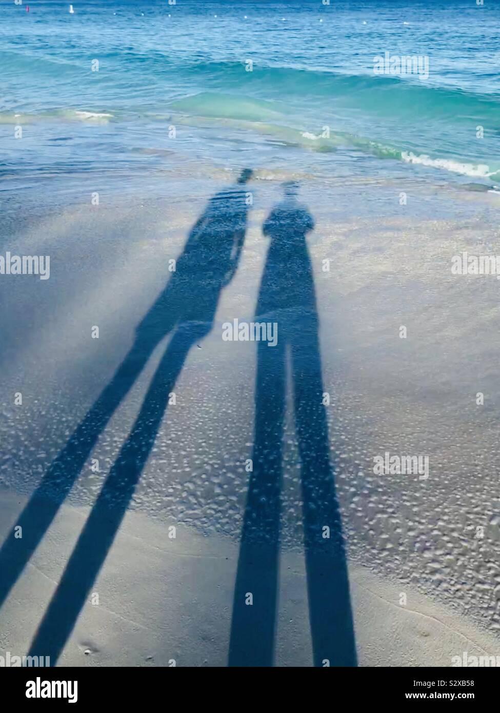 Shadow In Water : shadow, water, Shadows, Water, Beach, Stock, Photo, Alamy