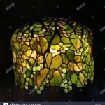 Tiffany Lampshade In Grape Pattern Stock Photo Alamy
