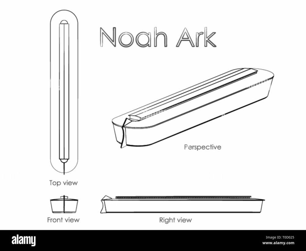 medium resolution of noah ark outline like a brushstrokes stock image