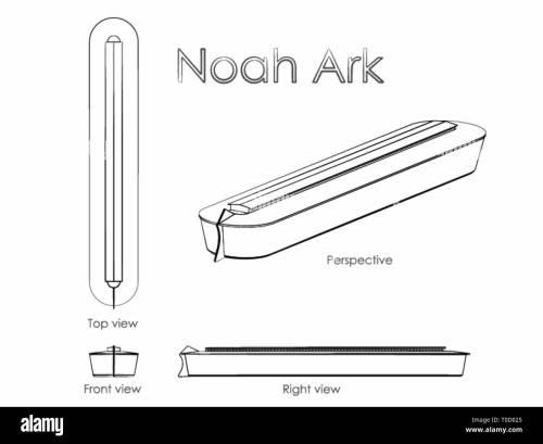 small resolution of noah ark outline like a brushstrokes stock image