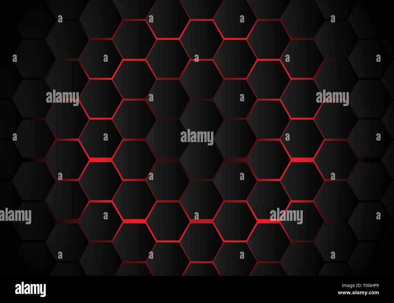 abstract black hexagon pattern