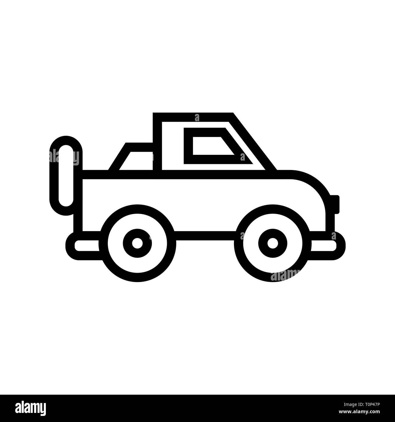 illustration jeep icon stock