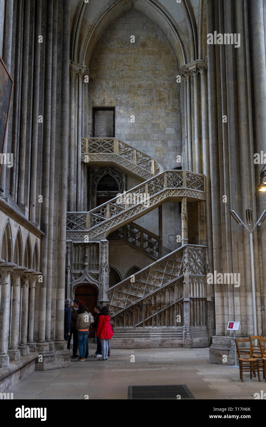 medium resolution of france rouen cathedral diagram of north transept stairs new wiring cathedrale notre dame de rouen stock