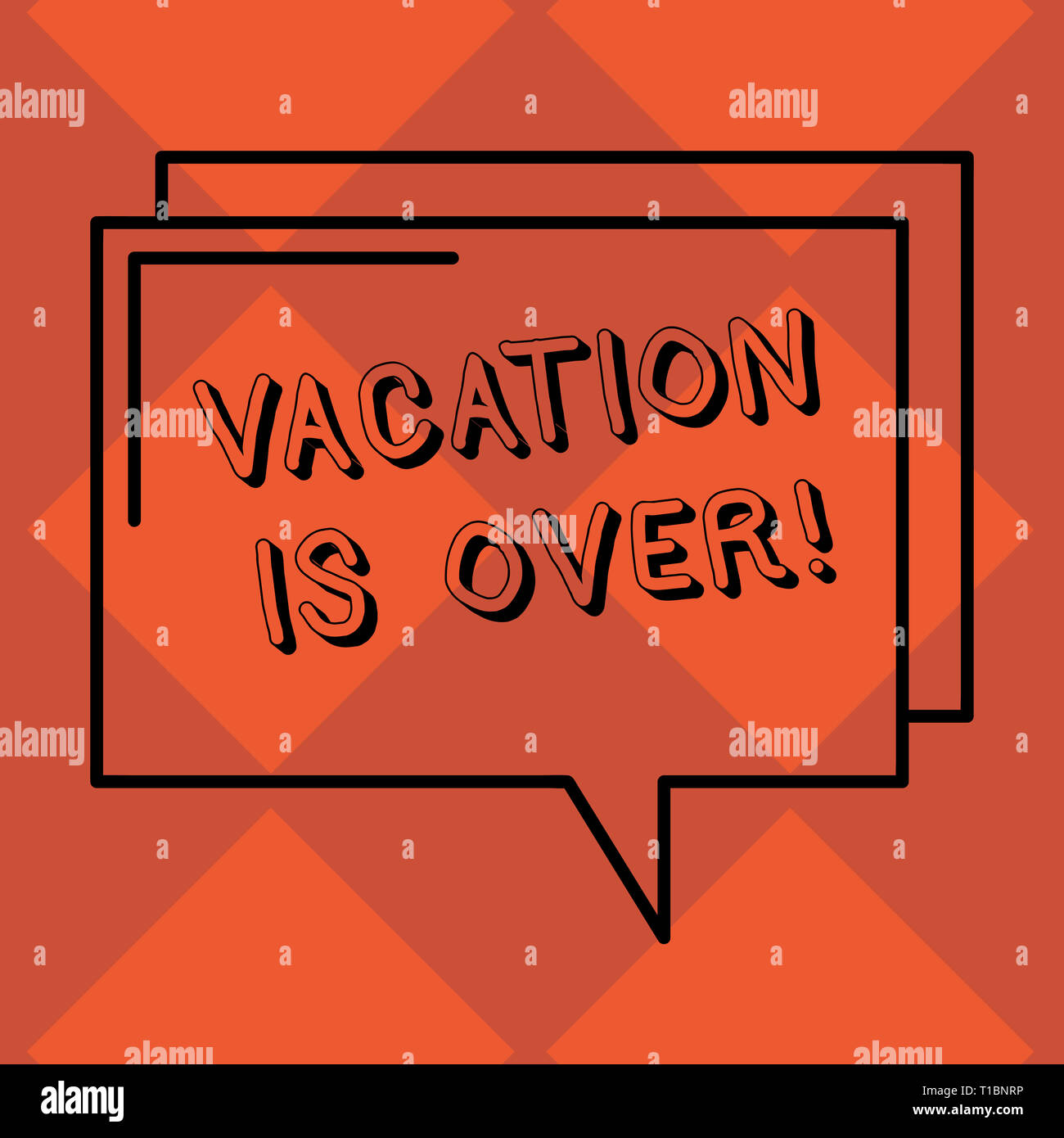 Handwriting Text Vacation Is Over Conceptual Photo End Of Break Good Memories From Trips And Relaxing Time Rectangular Outline Transparent Comic Spee Stock Photo Alamy