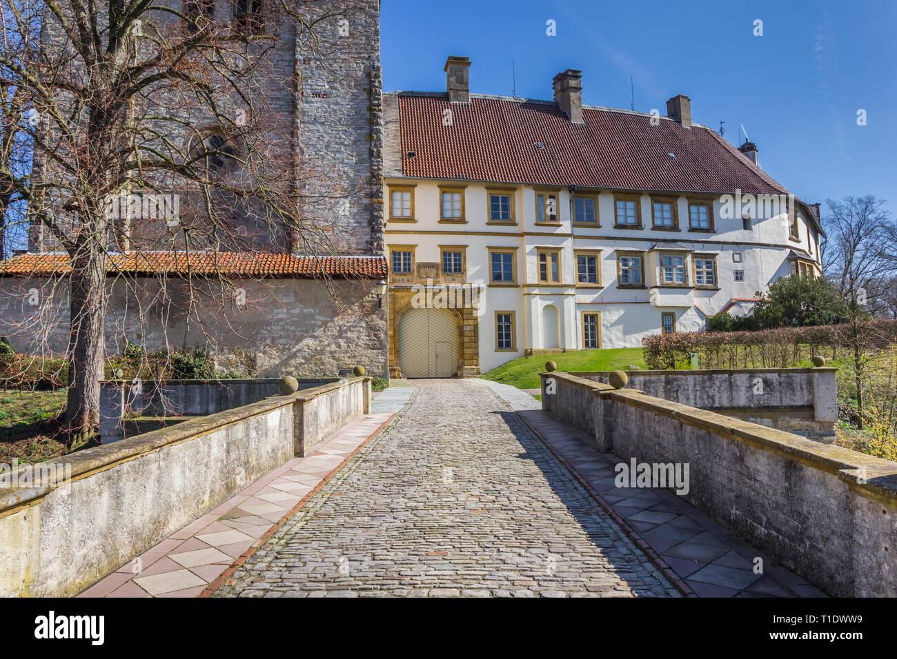https www alamy com bridge leading to the castle in rheda wiedenbruck germany image241865493 html