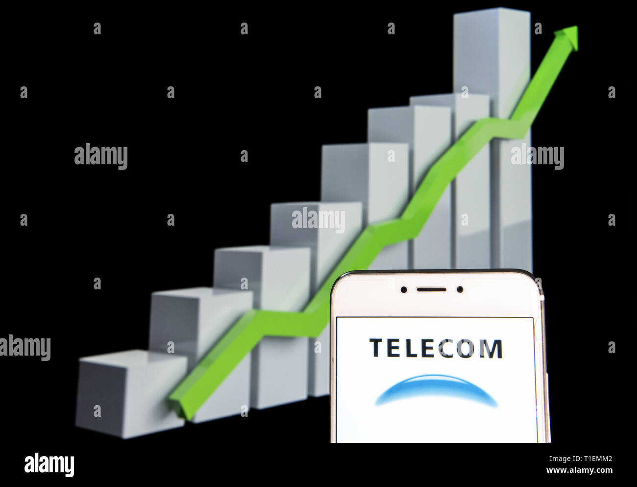 hight resolution of february 11 2019 hong kong in this photo illustration a argentinian telephone company telecom argentina logo is seen on an android mobile device with