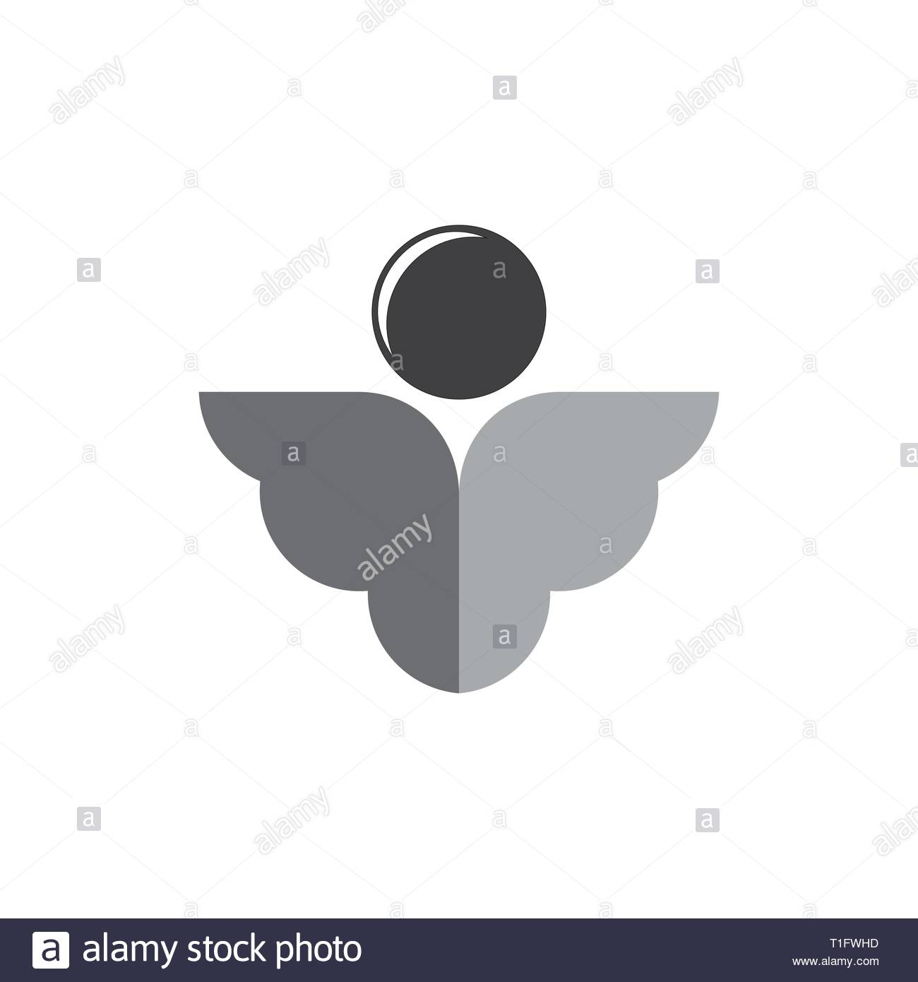simple cute angel wings