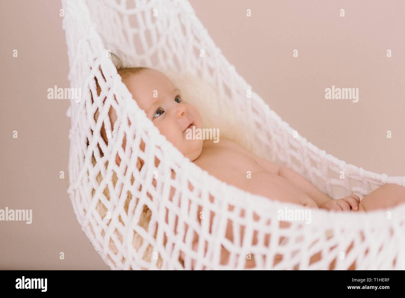 Baby Sleeping In Hammock Stock Photos Amp Baby Sleeping In