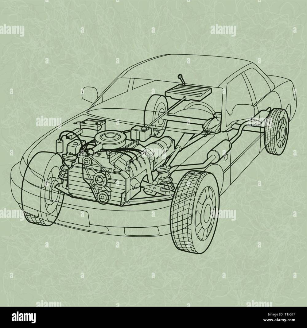 medium resolution of generic car diagram a ghosting or cross section of a car showing the engine