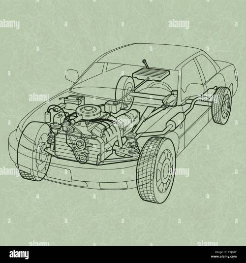small resolution of generic car diagram a ghosting or cross section of a car showing the engine