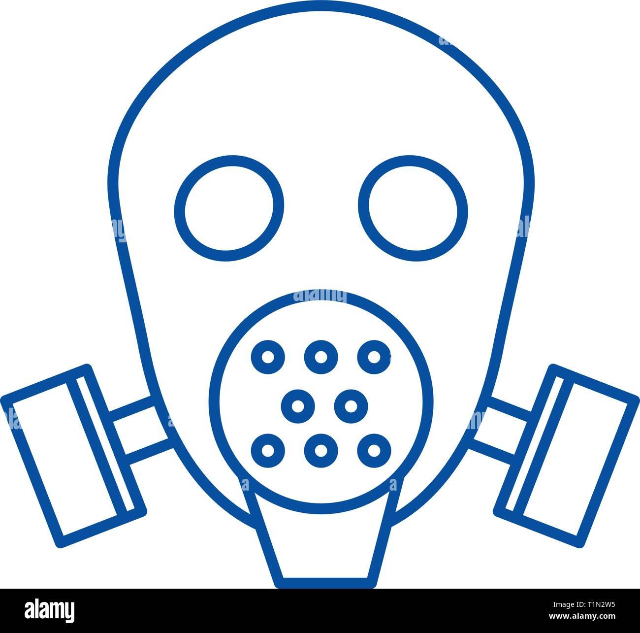gas mask respirator line
