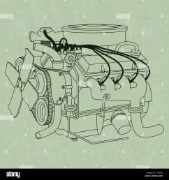car engine diagram stock photos u0026 car engine diagram stock images [ 1300 x 1390 Pixel ]