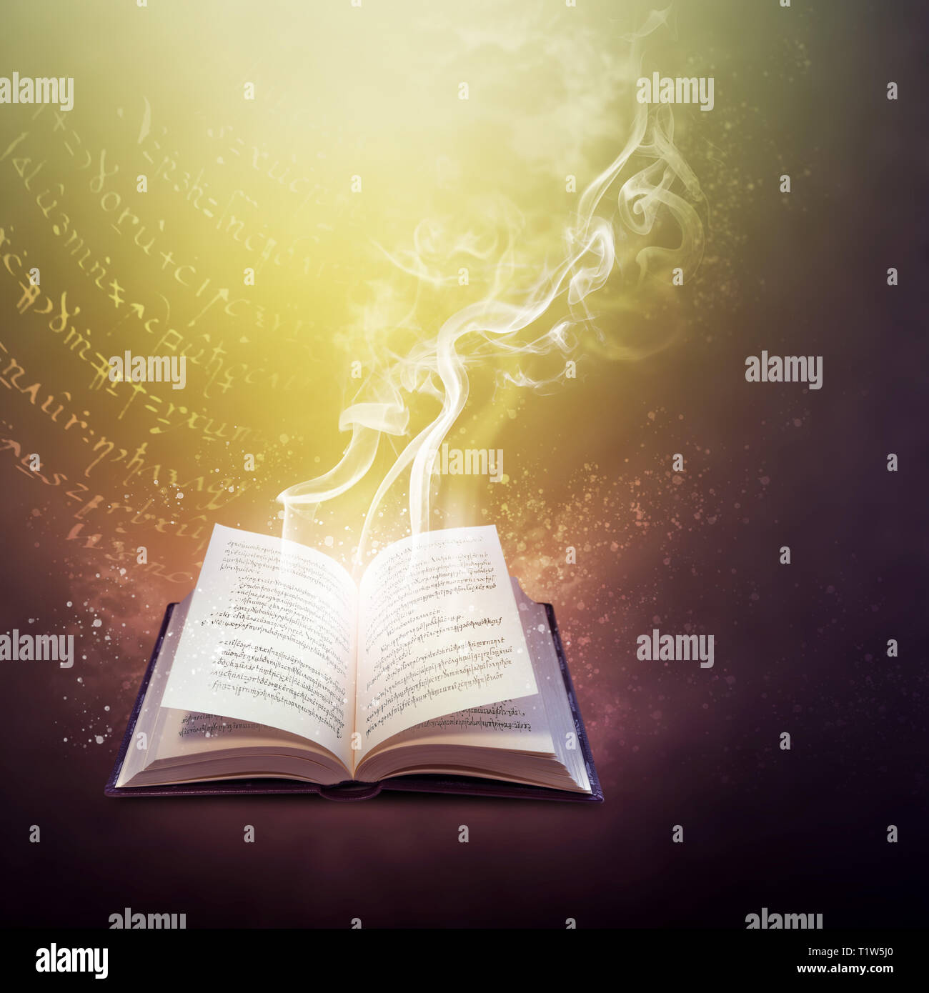 magic spell book stock