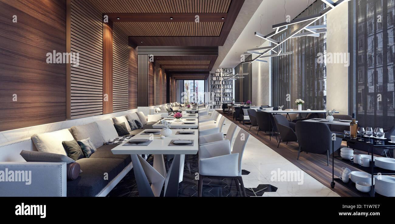 Restaurant Interieur Design.Decoration Restaurant Lounge