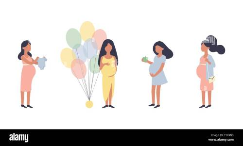 small resolution of pregnant woman pregnancy vector illustration set walking healthy nutrition during pregnancy purchase baby shower and other situations character